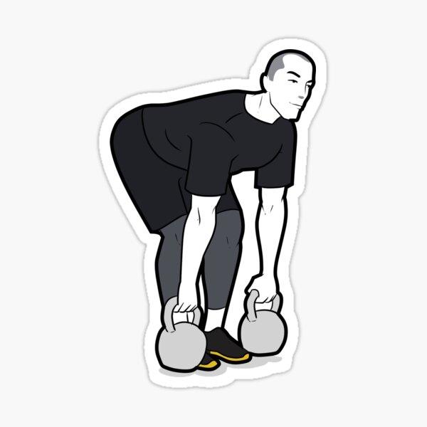 Kettlebell Exercise- Deadlifts Sticker