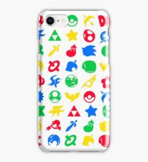 Super Smash Logos Phone Case (WHITE) iPhone Case/Skin