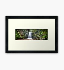 Waterfall Wonderland Panorama Framed Print