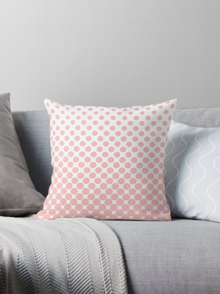 LightPink Gradient Ombre Polka Dots by ImageNugget