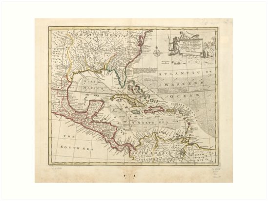 Map of the West Indies by Emanuel Bowen (1752) by allhistory