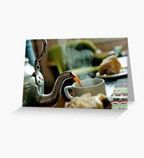 Retro Coffee Pot Greeting Card