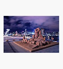 SAND SCULPTURES AT THE DOCKLANDS Photographic Print