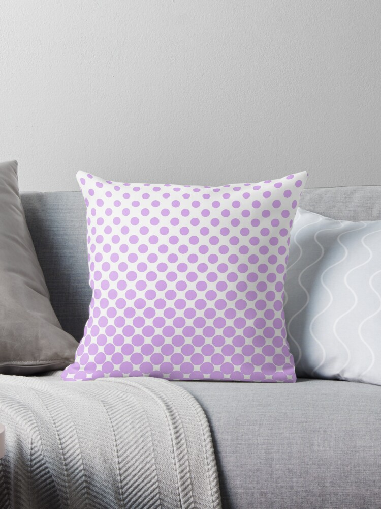 Lilac Gradient Ombre Polka Dots by ImageNugget
