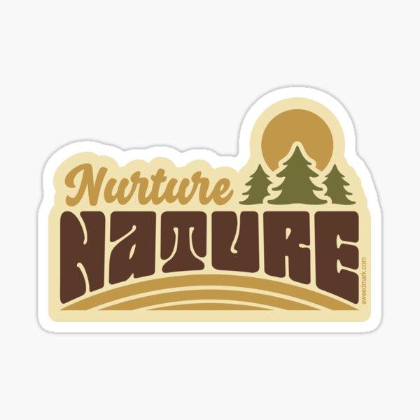 Retro Nurture Nature Sticker