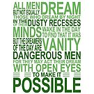 'All Men Dream' Quote [GREEN] by Styl0