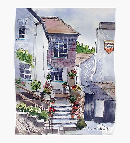 Polperro cottage Poster