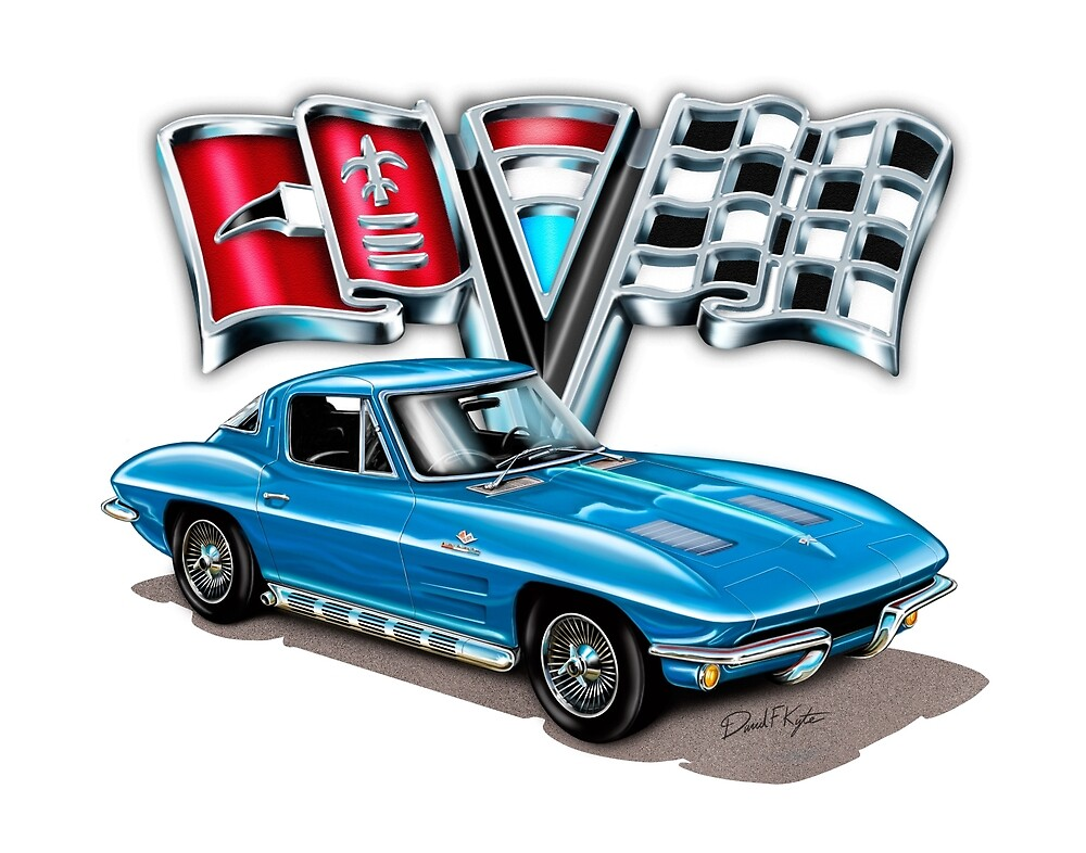 1963 Vette Blue by davidkyte