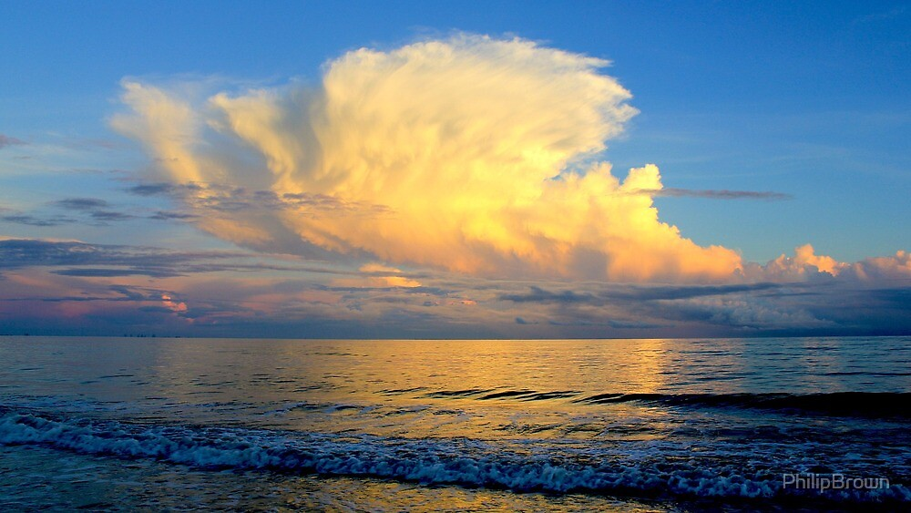 Cloud at Sunset by PhilipBrown