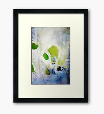 Green abstract painting  Framed Print