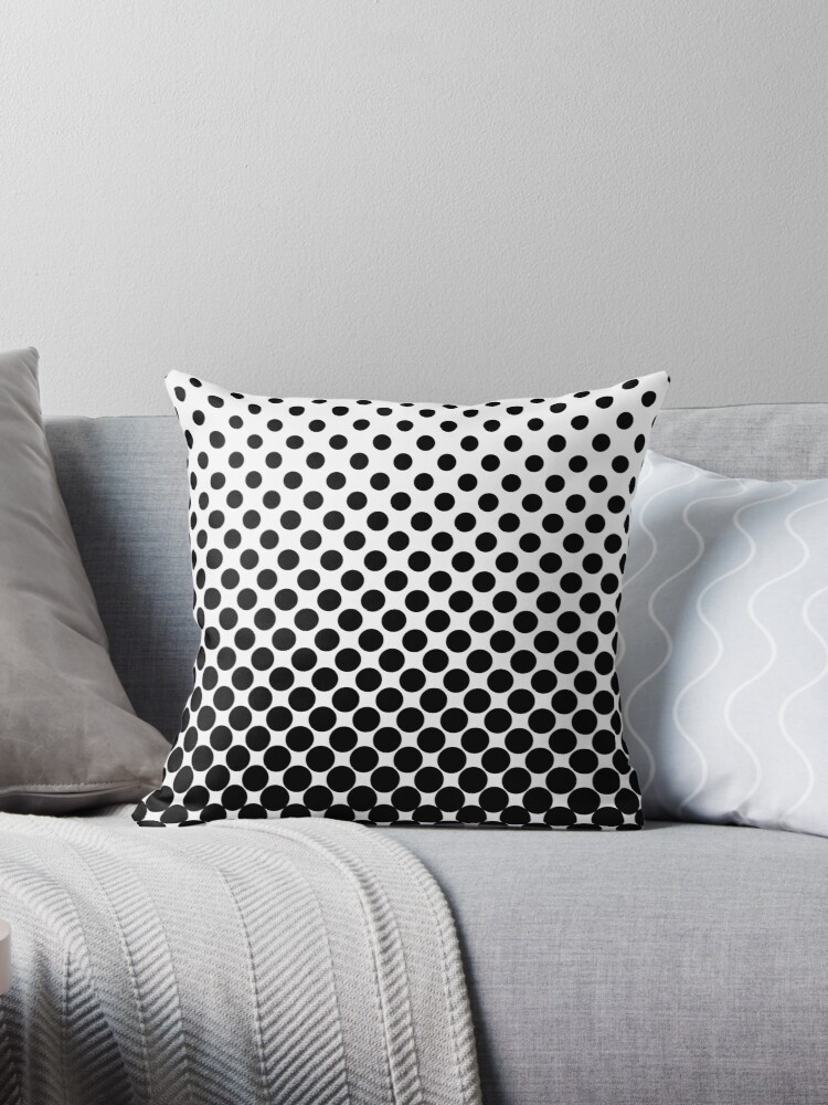 Black Gradient Ombre Polka Dots by ImageNugget
