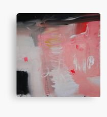 Pink painting, pink abstract, red pink paintingg Canvas Print