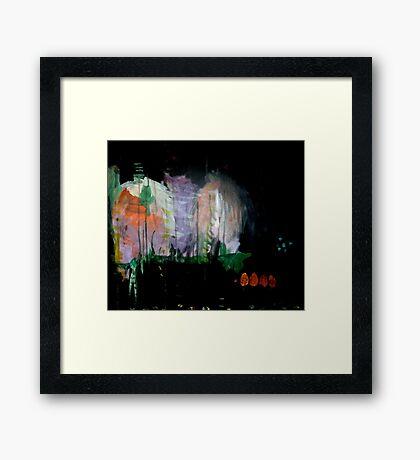 the darkened woods  Framed Print