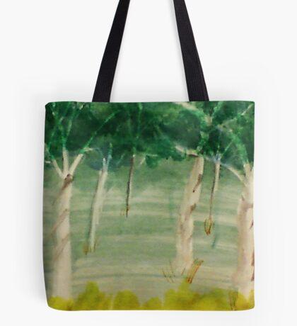 Among the trees, watercolor Tote Bag