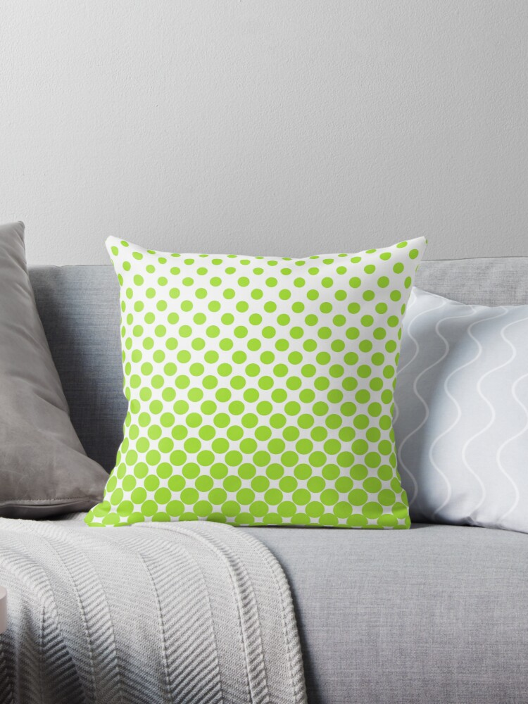 LimeGreen Gradient Ombre Polka Dots by ImageNugget