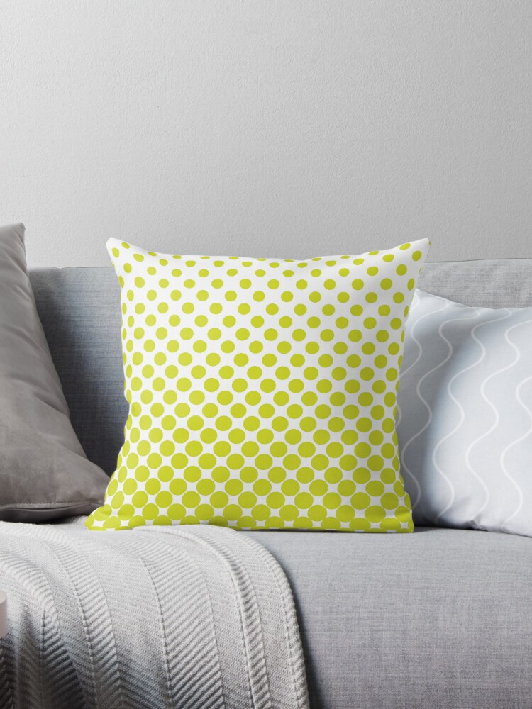 Chartreuse Gradient Ombre Polka Dots by ImageNugget