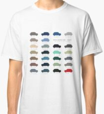 Austin Mini classic - 60's original car colours  Classic T-Shirt