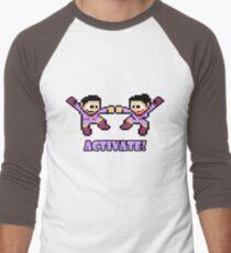 Mega Wonder Twins Men's Baseball ¾ T-Shirt