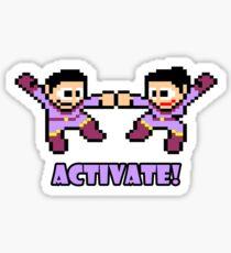 Mega Wonder Twins Sticker