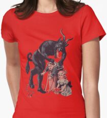 Merry Christmas from Krampus! Women's Fitted T-Shirt