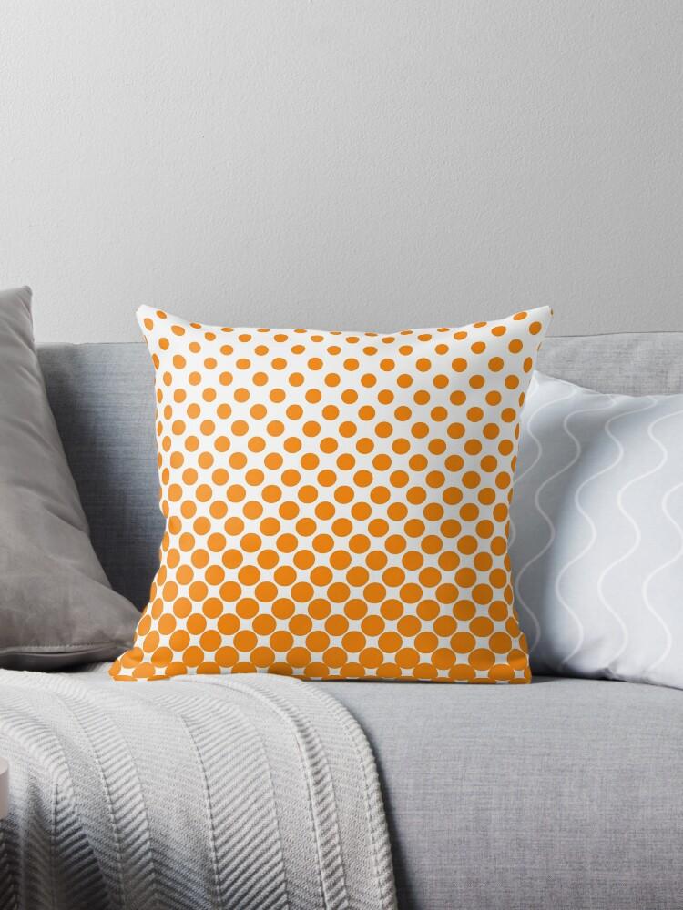 Orange Gradient Ombre Polka Dots by ImageNugget
