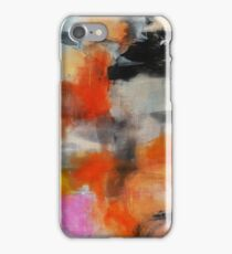 Abstract Orange Black Print from Original Painting  iPhone Case/Skin