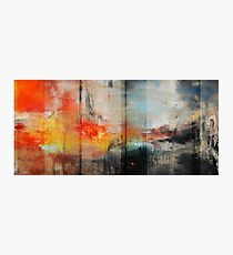 Large Abstract Art, Blue Orange Abstract Print  Photographic Print