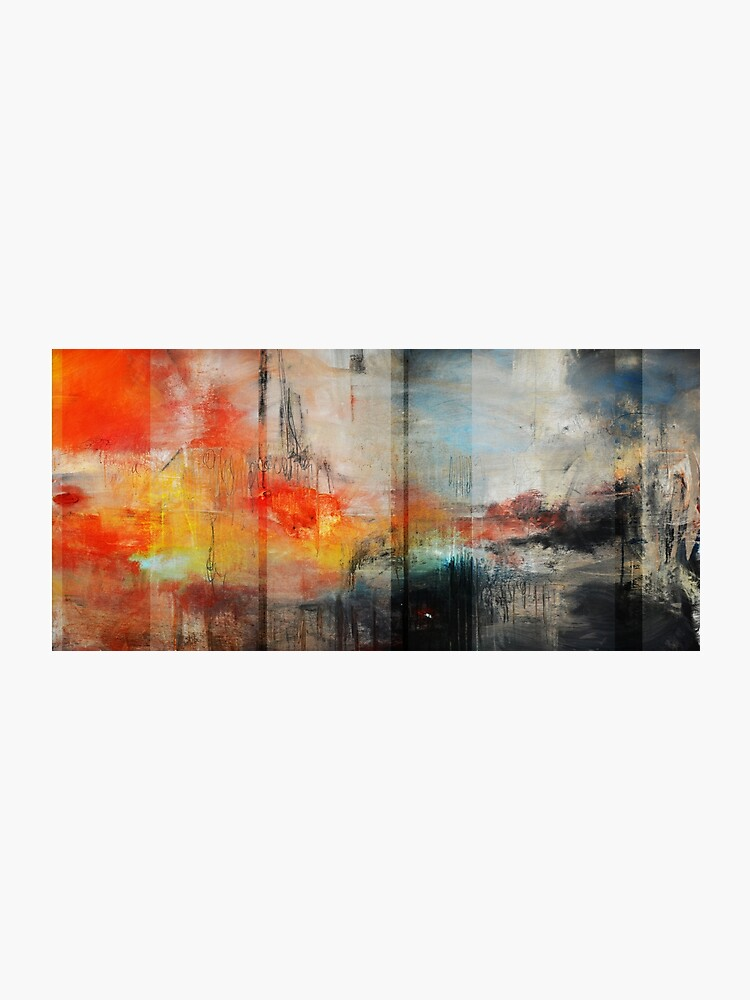 Large Abstract Art Blue Orange Abstract Print Photographic Print