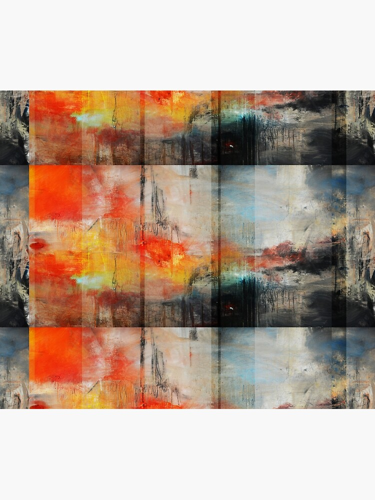 Large Abstract Art, Blue Orange Abstract Print  by AndradaArt