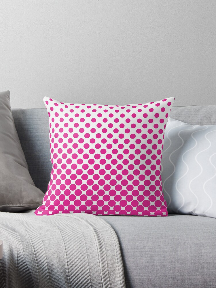 HotPink Gradient Ombre Polka Dots by ImageNugget