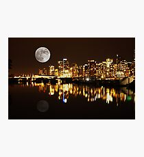Vancouver at Night : Canada Photographic Print
