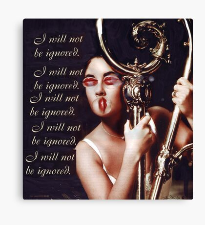 I Will Not Canvas Print