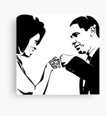 SAY IT LOUD: Obama Fist Bump Canvas Print