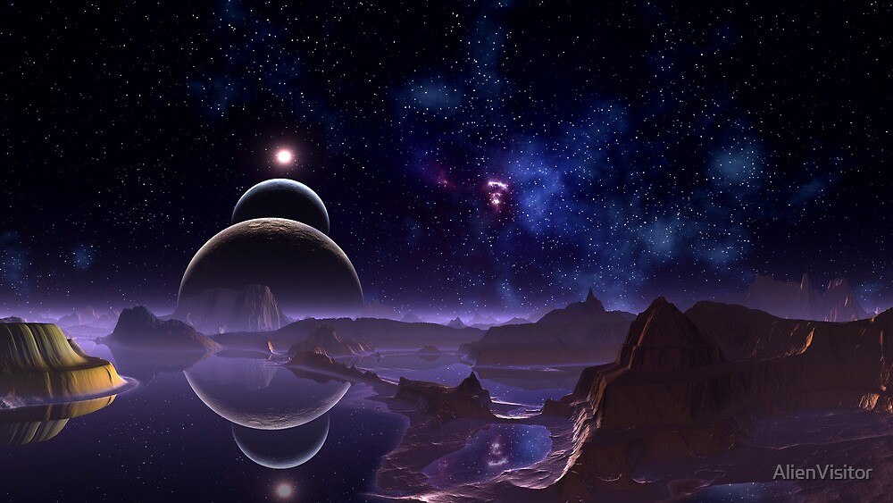 Reflective Moons - Rim World by AlienVisitor