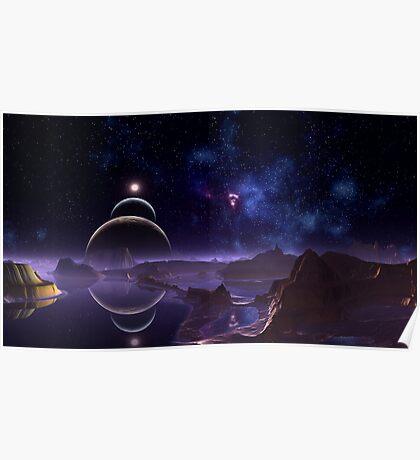 Reflective Moons - Rim World Poster