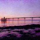 Clevedon Pier lilac sunset by Kathy1