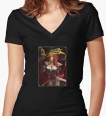 Captain Miss Fortune Women's Fitted V-Neck T-Shirt