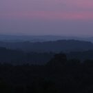 Last Light Over Morgan County Hills by Kent Nickell