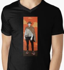 The man with no name but with some skates (with background) Mens V-Neck T-Shirt