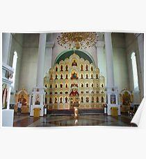 Iconostasis. Vladivostok Cathedral. Russia 2011 Poster
