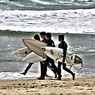 """Surfers"" Huntington Beach,CA by Aurora Vaz"