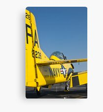 Tail shot of 138239, N726A T-28B Trojan Canvas Print