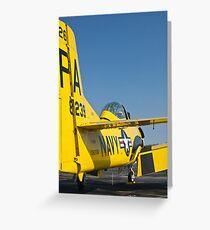 Tail shot of 138239, N726A T-28B Trojan Greeting Card