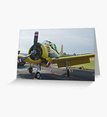 N726A T-28B Trojan Nose Shot Greeting Card
