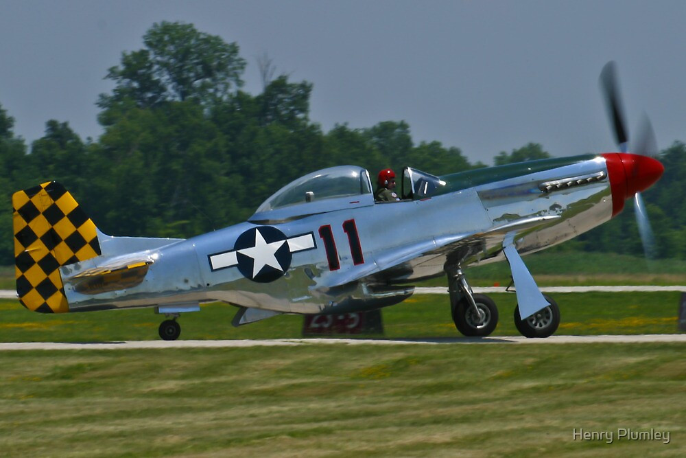 NL1451D, North American P-51D Mustang taxis by Henry Plumley