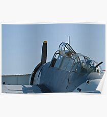 Side shot of NL9584Z TBM-3 Avenger Poster