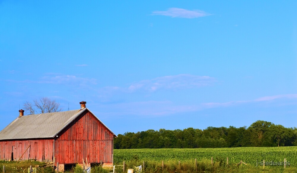 Red Barn by j-s-edwards