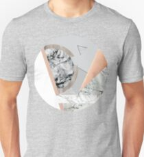 Collage I ( marble and copper ) Unisex T-Shirt