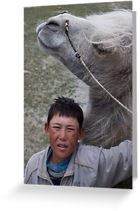 Kyrgyz cameleer boy by Gillian Anderson LAPS, AFIAP