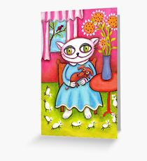 Snowball and Her Pets Greeting Card